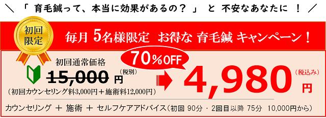 育毛鍼 キャンペーン価格